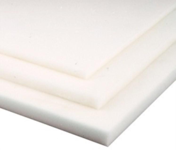 POM Platte 400 x 400 x 30 mm POM-C Weiß//Natur Polyoxymethylen
